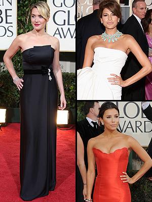 Principal bien vestidos, Golden Globe 09, Kate Winslet, Evan Mendes, Eva Longoria