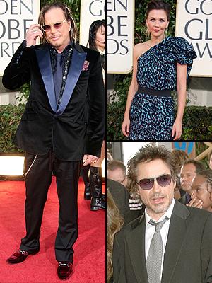 Princial Golden 09, Golden Globes Bien Vestidos, Mickey Roure, Robert Downey Jr., Haggie Gyllenhaal