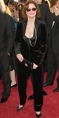 Susan Sarandon, Golden Globes mal vestidos