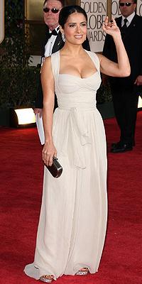 Salma Hayek, Golden Globes bien vestidos