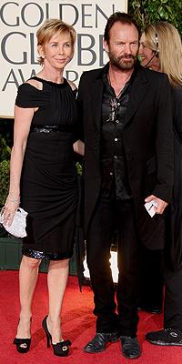 Trudie Styler, Sting, Golden Globes mal vestidos