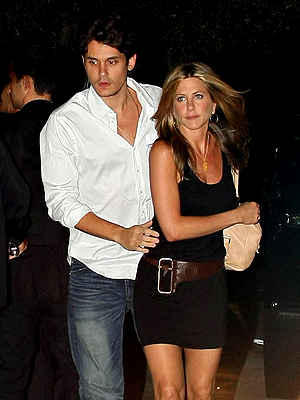 Jennifer Aniston, John Mayer, Now and Then, Parejas
