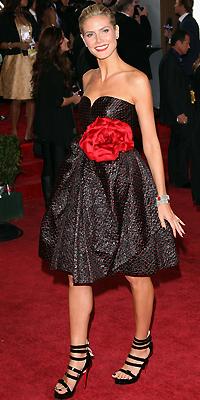 Heidi Klum, Golden Globes mal vestidos