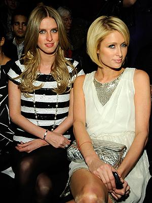 Paris Hilton, Nicky Hilton, Semana de la moda