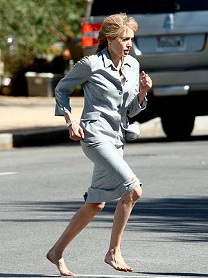 "Angelina Jolie, Set de ""Salt"""