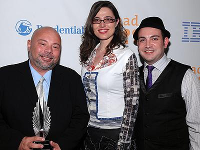 Ángel Linares, Jidith Torrea, Ernesto Sánchez, Glaad Awards 09