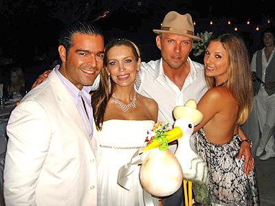 Pablo Montero, Sandra Vidal con Daisy Fuentes