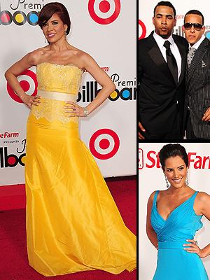 Gloria Trevi, Don Omar, Daddy Yankee, Gaby Espino, Mejor vestidos Latin Billboard