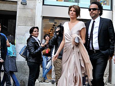 Alejandro González Iñárritu y María Eladia, Boda de Salma Hayek