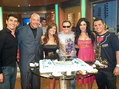 Gabriel Porras, Edgar Lopez, Mireya, Elvis Crespo, Monica Noguera y Karim Mendiburu