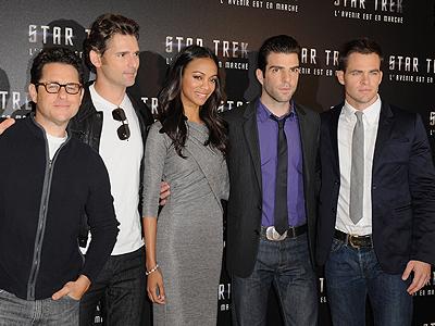 Eric Bana, Zoe Saldaña, Zachary Quinto, Chris Pine, Star Trek