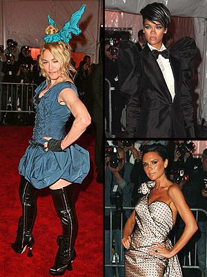 Madonna, Victoria Beckham, Rihanna