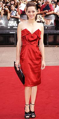 Marion Cotillard, rojo