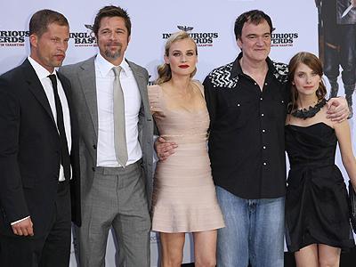 Til Schweiger, Brad Pitt, Diane Kruger, Quentin Tarantino, Melanie Laurent