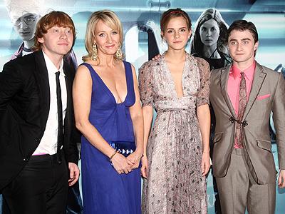 Harry Potter Premiere, Daniel Radcliffe, Emma Watson, J.K. Rowlings