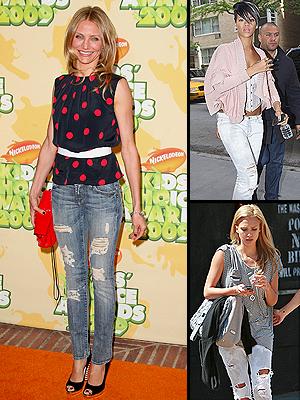 Cameron Díaz, Rihanna, Jessica Alba, Jeans rotos