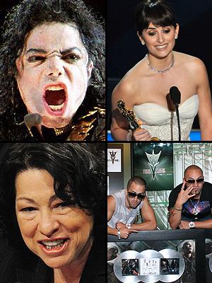 Premios People En Espanol 2009. El acontecimiento del año: La muerte de Michael Jackson, el Oscar de Penélope Cruz, Sonia Sotomayor como jueza, el éxito de Wisin y Yandel en el mundo