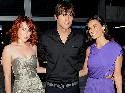 Demi Moore, Ashton Kutcher, Rumer Willis