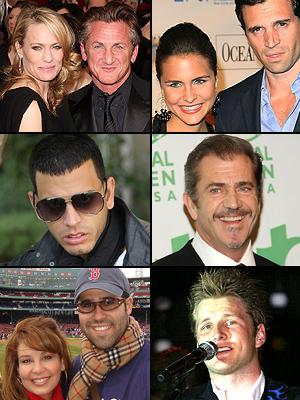 Premios People En Espanol 2009. La separación: Mel Gibson, Myrka Dellanos, Lilia Luciano, Tito El Bambino, Alexander Acha, Sean Penn