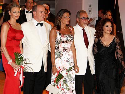 Alberto de Mónaco, Estefanía de Mónaco, Emilio Estefan, Gloria Estefan