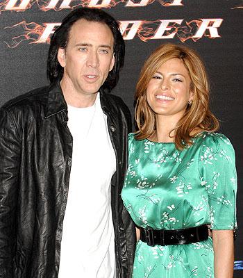 Nicolas Cage y Eva Mendes