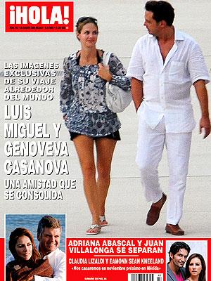 Portada de la Revista ¡Hola! México, Luis Miguel, Genoveva Casanova