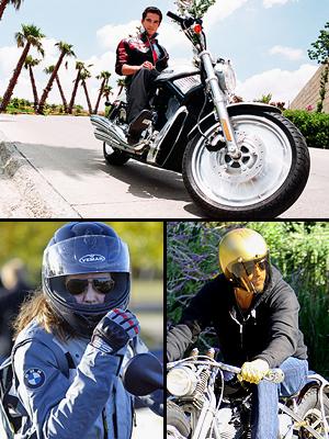 Principal, Famosos sobre ruedas, Alfonso Herrera, Angelina Jolie, Brad Pitt