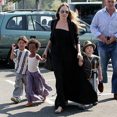 Angelina Jolie, Shiloh, Zahara, Pax