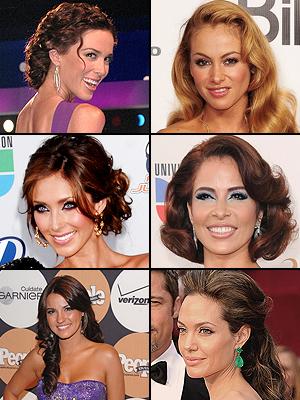 Jacqueline Bracamontes,Paulina Rubio, Gloria Trevi, Anahí,Maite Perroni, Angelina Jolie