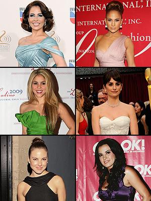 Gloria Trevi,Jennifer Lopez,Shakira, Penelope Cruz,Kate del Castillo, Maite Perroni
