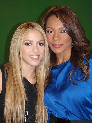 Shakira junto a Ilia Calderón