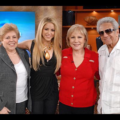 Shakira, Cristina Saralegui, William Mebarak, Nidya Ripoll