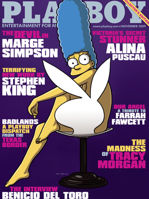 Portada de noviembre de Playboy con Marge Simpson