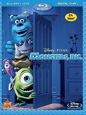 Monsters Inc. en DVD/Blu-Ray