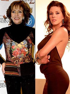 Lorena Velásquez y Alicia Machado