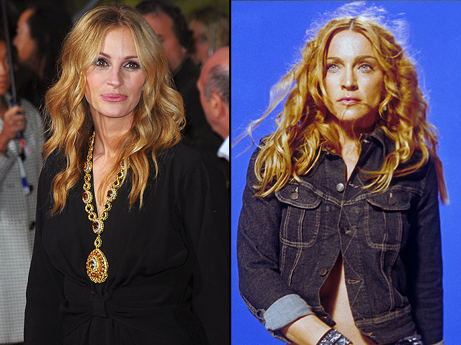 Julia Roberts, Madonna, Separados al nacer