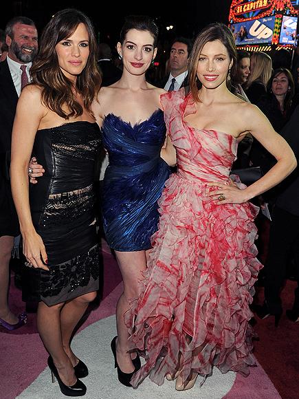 Jennifer Garner, Anne Hathaway, Jessica Biel