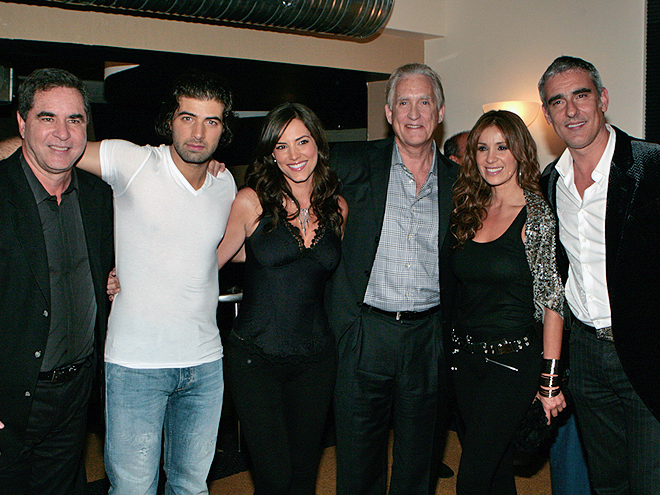 Aurelio Valcarcel (Productor General de Mas Sabe el Diablo) Jencarlos Canela, Gaby Espino, Don Brown, Catherine Siachoque y Miguel Varoni