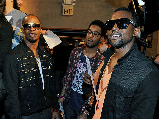 Jamie Foxx, Kid Cudi, Kanye West