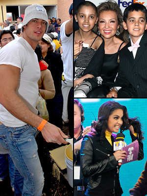 Principal Stars giving back, William Levy, Thalía, Lucero