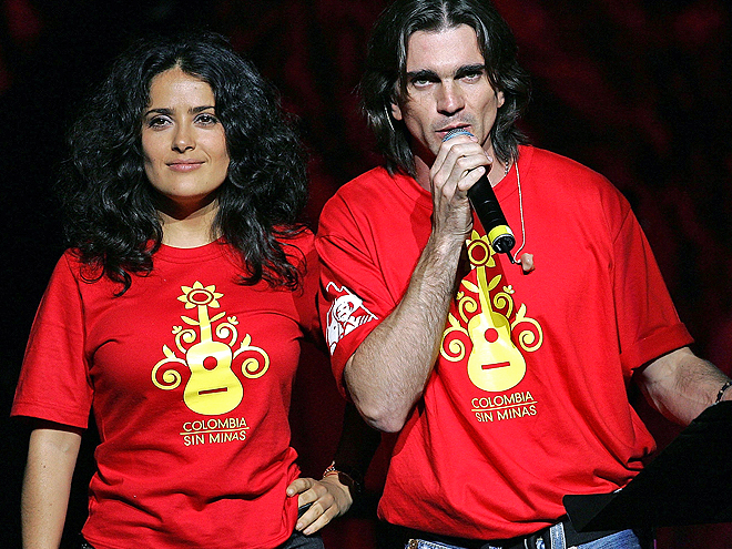 Salma Hayek, Juanes, Stars giving back