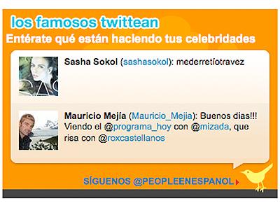 Los famosos Twittean en PeopleEnEspanol.com