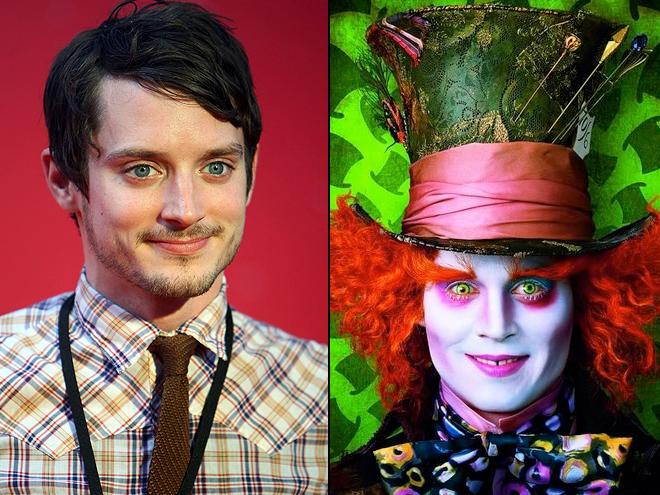 Elijah Wood, Johnny Depp en Alice In Wonderland, Separados al nacer