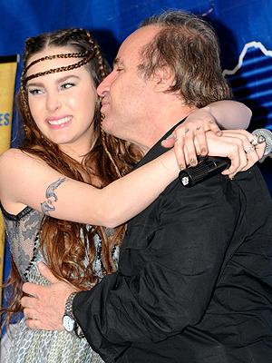 Belinda con su papá, Ignacio Peregrín