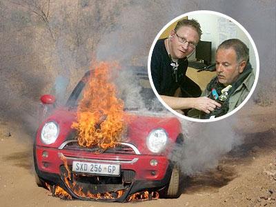 Este es el Mini Cooper cuyo motor explotó en pleno safari; Raúl fue tratado por inhalación de humo y presión alta