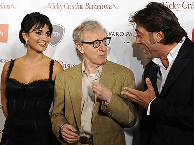 Penélope Cruz, Woody Allen, Javier Bardem