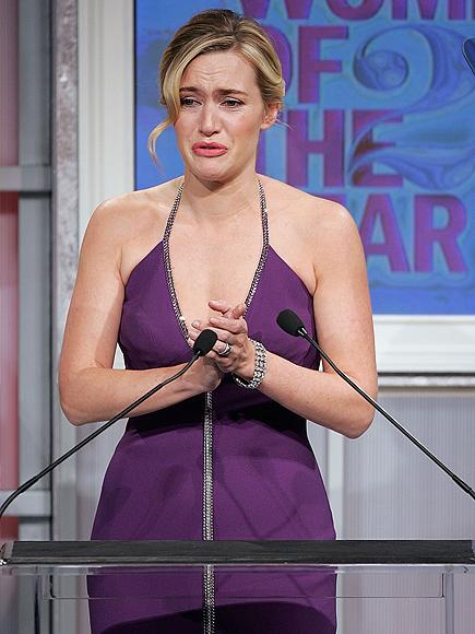 Kate Winslet, Los famosos también lloran