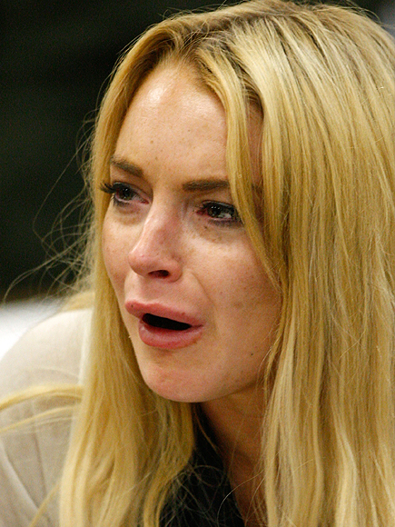 Lindsay Lohan, Los famosos también lloran