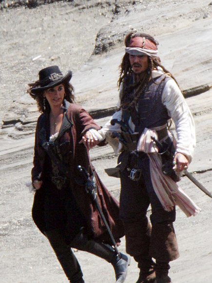 Penélope Cruz y Johnny Depp