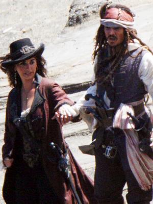 Penélope Cruz, Johnny Depp, Piratas del Caribe